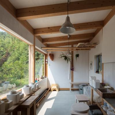 糸島の陶芸小屋